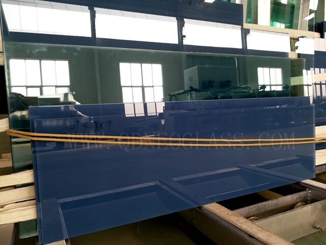 Ford Blue PVB Laminated Glass, Cut To Size Laminated Glass, Custom-Made Fordblue PVB Laminated Glass