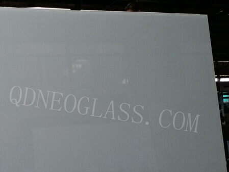 Low Iron White Painted Glass
