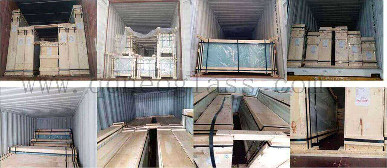 Container Fasten Of Laminated Glass
